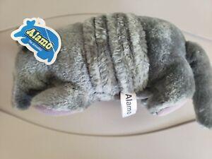 "RUSS BERRIE Alamo The Armadillo Stuffed Animal Vintage 12"" Gray Plush Toys #883"