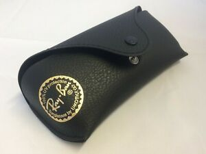 Official Rayban hard leather look button fasten spectacle case