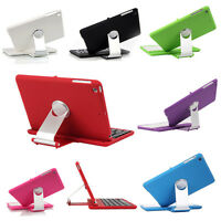 Bluetooth Wireless Keyboard For iPad Mini 1/2/3 Cover Case w Swivel Rotary Stand