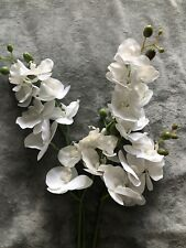 Faux Flowers Orchid White