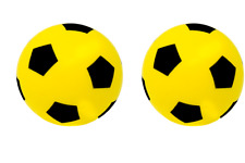 Pack of 2 20cm E-Deals Foam Sponge Football Soft Ball Indoor Outdoor Soccer Toy