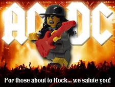Angus Young AC/DC Heavy Metal Rock Custom Lego Minifigure Unique Gift