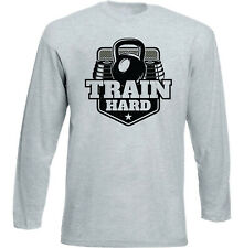 BODY BUILDING TRAIN HARD - NEW COTTON T-SHIRT