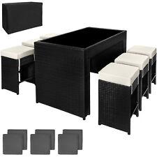 Luxury Rattan Aluminium Bar Set With 6 Barstools Garden Furniture Outdoor Wicker
