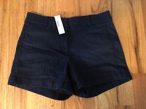 NWT J. Crew Womens Navy Chino Shorts Size 4