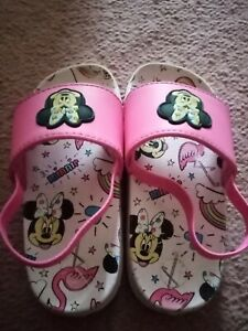 Girls Disney Minnie Mouse Slippers Size Infant 6
