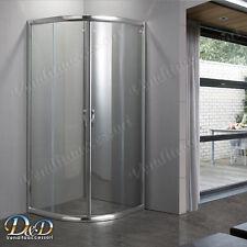 Box cabina doccia 90x90 semicircolare bagno angolare tondo cristallo trasparente