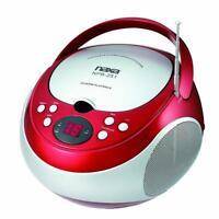 NAXA Electronics NPB-251BU Portable CD Player with AM/FM Stereo Radio Red