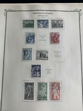 TCStamps 12 Pages 1955-58 CZECHOSLOVAKIA Postage Stamps Quality Scott Album #853