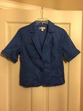 Ladies, Coldwater Creek, Blue, Lightweight, Jacket/Top, Size 8