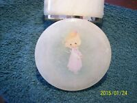 Precious Moments 1987 Samuel J. Butcher Alabaster Made In Italy Trinket Box