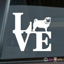 Love Pug Sticker Die Cut Vinyl - park