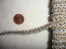 Vintage Silver and Gold Metallic Braid 1 yard