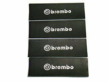 4x 105MM BREMBO BRAKE CALIPER STENCIL STICKERS, CUT-OUT, PAINT OVER DECAL