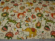 Swavelle Millcreek Groveland-Madden Rodeo Cotton Woven Animals Floral Elephants