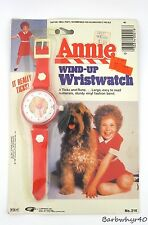 1981 Annie Character Watch Wristwatch on Original Card by Gordy