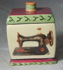 SEWING PORCELAIN KEEPSAKE BOX cute REEL handle