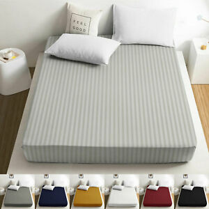 25CM Deep Fitted Sheet With Elastic Bed Sheets For Mattress Double King Bed Size