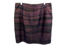 BANANA REPUBLIC SKIRT Women's Skirt, Sz 10P, SILK BURGUNDY BLACK PLEATED MINI