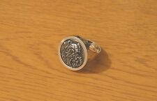 More details for miniature schnauzer dog statement ring rhodium-plated gift friend mum dad gift