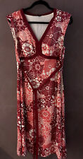 David Lawrence Dress Size 12 Red Oriental