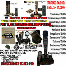 NEW Magic Sing ET23PRO Tagalog/English Song Karaoke 2 Wireless Mic PINOY VIDEOKE