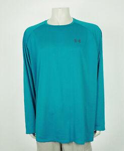 Under Armour Tech 2.0 HeatGear Blue Training Shirt Mens 3XL XXXL