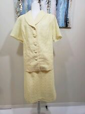 SIGNATURE COLLECTION Women 2PC Elegant Yellow Cord Skirt Suit Size 18w