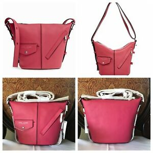 NWT Authentic Marc Jacobs Mini Sling Leather Shoulder Watermelon Pink Bag $298
