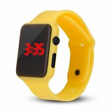 Unisex Digital LED Sports Watch Silicone Band Wrist Watches Men Children Fashion