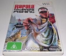 Rapala Pro Bass Fishing Nintendo Wii PAL *Complete* Wii U Compatible