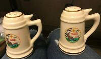 Vintage 1969 NATIONAL JAMBOREE IDAHO MINI STEIN SALT & PEPPER SHAKERS