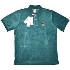 NWT Supreme x Lacoste Men s Teal Green Logo Velour Polo Shirt SS18 DS  AUTHENTIC 868ecb2f7f0