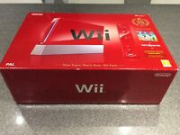Nintendo Wii, Super Mario Bros And Wii Sports Red