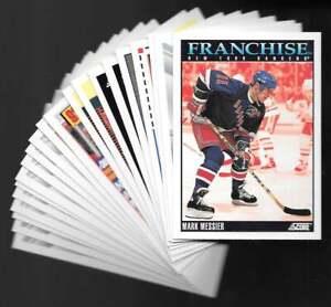 1992-93 Score New York Rangers Team SET (35) Mike Richter Mark Messier Franchise