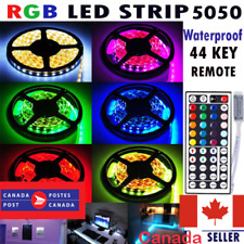 New Waterproof 300 LEDS RGB5M 5050 SMD LED Strip Light 12V+IR Controller Canada