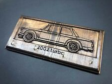 BMW 2002/2002tii turbo key chain hanger wood engraved gift 1974 1975 1976 3D