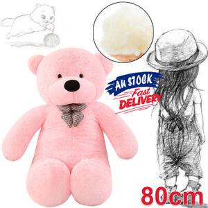 80cm Giant Pink Christmas Bear Cuddly Stuffed Doll Gift Plush Animal Teddy ACB#