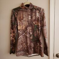 Under Armour Womens Scent Control Large Cold Gear Long Sleeve Shirt Fitted camo