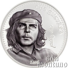 CHE GUEVARA 1 oz Silver High Relief Partially Colorized Proof Coin 2018 Mongolia