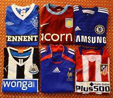 Six Football Shirts Lot, Atletico, Aston Villa, Newcastle, France, Chelsea
