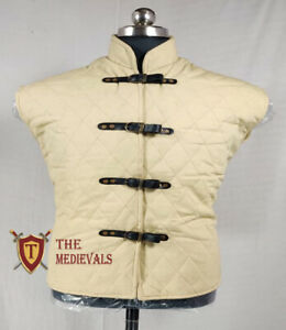 Medieval Gambeson VEST Thick Padded Costume Dress Aketon Jacket Armor