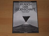 IM REICH DER LEIDENSCHAFT - Presseheft ´79 - NAGISA OSHIMA
