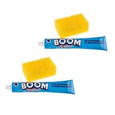 BOOM Stain Remover Twin Pack and Applicator Sponges Blue new Pack of 2