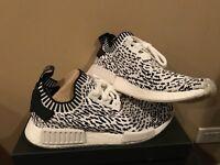 Adidas NMD R1 PK Zebra White Black Sashiko prime knit BZ0219 New DS