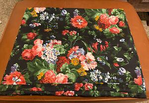Rare HTF Twin Ralph Lauren Isadora Cossette Black Floral Duvet Cover