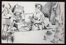 Charles KVAPIL (1884-1957) Les soldats 1918 dessin Tchécoslovaquie école Paris