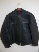 VINTAGE 60'S DISTRESSED LEATHER CAFE RACER MOTORCYCLE JACKET
