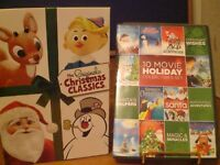 LOT OF 14 CHRISTMAS CLASICS ON DVD LIKE NEW FROSTY THE SNOW MAN,RUDOLPH,SANTA