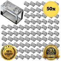 LEGO® Brick, 1 X 2 Trans Clear Bricks of Part 3065 MOC  - 50x